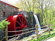 Grist Mill Prints - Wayside Inn Grist Mill Print by Barbara McDevitt