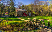 Sudbury Ma Photo Posters - Wayside Inn Grist Mill Poster by Mark Papke