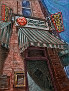 Sign Pastels - Wazee Supper Club by Dennis Line