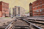 Kansas City Mixed Media Framed Prints - WB - West Bottoms - KCMO Framed Print by Liane Wright