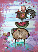 Watermelon Painting Posters - we are all Friends here Poster by  Abril Andrade Griffith