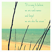 Enjoying Digital Art Posters - We Are Also the Ocean Poster by Poetry and Art