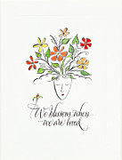 Calligraphy Framed Prints - We Blossom Framed Print by Michelle Calaba