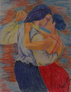 Figures Pastels Prints - We could have Danced all Night Print by Lee Ann Newsom