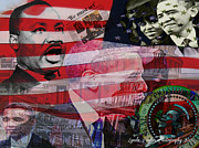 President Obama Digital Art Prints - We Must Act Print by Lynda Payton