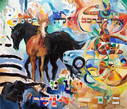 Integration Painting Prints - We remember the Name of Hashem Print by David Baruch Wolk