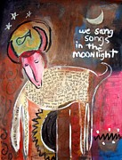 Modernism Mixed Media - We Sang Songs In The Moonlight by Venus