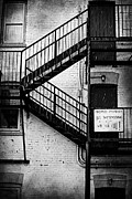 Stairs Downtown Prints - We See Ya  Print by Jerry Cordeiro