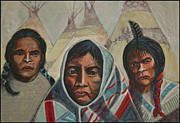 American Aboriginal Art Paintings - We Shall Remain by Laureen McMullan