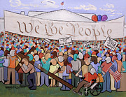 White Digital Art Originals - We The People by Anthony Falbo