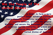 Flag Of Usa Posters - We The People Poster by Barbara Snyder
