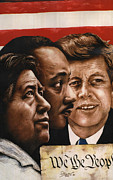Jfk Paintings - We The People by Bill Olivas