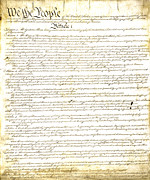 Freedom Of Speech Posters - We The People Constitution Page 1 Poster by Charles Beeler
