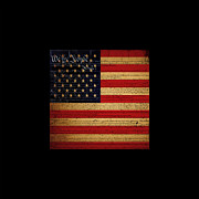 July 4th Digital Art - We The People - The US Constitution with Flag - square black border by Wingsdomain Art and Photography