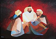 Melchior Prints - We Three Kings Print by Tracey Harrington-Simpson