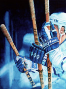 Hockey Painting Originals - Weapons of Choice by Hanne Lore Koehler