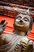 Buddhism Metal Prints - Wear-And-Tear Buddha Metal Print by Dean Harte
