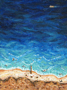 Sea Shore Prints Painting Originals - Weather to Fly by Logan Hoyt Davis