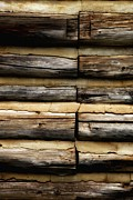 Log Cabin Art Prints - Weathered and Worn Print by Newel Hunter