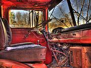Old Truck Framed Prints - Weathered and Worn  Framed Print by Thomas Young