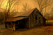 Luminism Art - Weathered Barn by Nina Fosdick
