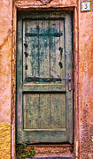Entryway Prints - Weathered Door 2 Print by Allen Beatty