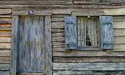 Old House Photographs Framed Prints - Weathered Door and Window Framed Print by Denise Mazzocco