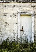 Old House Photo Metal Prints - Weathered Door Metal Print by Diane Diederich