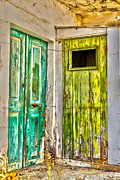 Traditional Doors Digital Art Framed Prints - Weathered doors Framed Print by Patricia Hofmeester