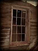 Cabin Window Framed Prints - Weathered Old Window Framed Print by Michelle Hunter