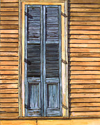 French Door Paintings - Weathered Shutters by John Boles