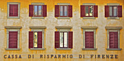 Tuscan Posters - Weathered Windows of Cortona Poster by David Letts