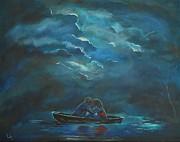 Weathering The Storm Print by Leslie Allen
