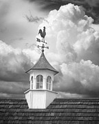 Weathervane Prints - Weathervane and Clouds Print by Mikael Carstanjen