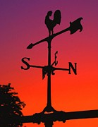 Weathervane Photo Prints - Weathervane at Sunset Print by Nick Zelinsky