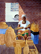 Black History Paintings - Weaving by Julia Rietz