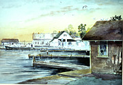 Bouys Paintings - Weborgs Dock by Ken Marsden