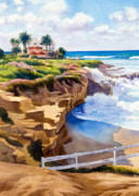 Wedding Painting Framed Prints - Wedding Bowl La Jolla California Framed Print by Mary Helmreich