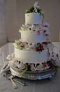 Chocoholic Photos - Wedding Cake In Bloom by Arlene Carmel