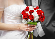 Red Bouquet Posters - Wedding Poster by Elena Elisseeva