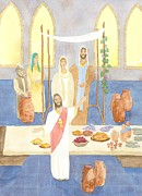 Wedding Feast At Cana Print by John Meng-Frecker
