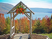Mountainscapes Framed Prints - Wedding Gazebo Framed Print by Aimee L Maher