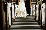 Christian Photo Framed Prints - Wedding in church Framed Print by Elena Elisseeva