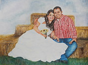 Locations Painting Prints - Wedding Memories Print by Charlotte Hastings