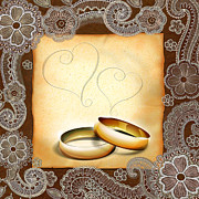 Ring Mixed Media - Wedding Memories V1A Classic by Bedros Awak