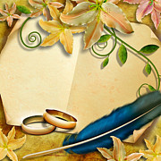 Ornate Mixed Media - Wedding Memories V4 Natural by Bedros Awak