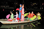 Binh Posters - Wedding Partys Arrival on Boats in Wedding Ceremony Show in Bin Poster by Ruth Hager