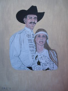 Western.love Painting Prints - Wedding Portrait Print by Elizabeth Stedman