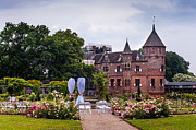 Garden Scene Prints - Wedding Setting in De Haar Castle. Utrecht Print by Jenny Rainbow
