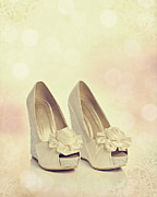 Wedding Photo Framed Prints - Wedding Shoes Framed Print by Christopher and Amanda Elwell
